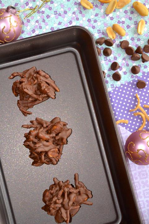 3 Ingredient Chocolate Haystacks - Ciao Chow Bambina
