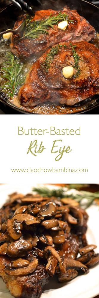 Butter-Basted Rib Eye  ciaochowbambina.com