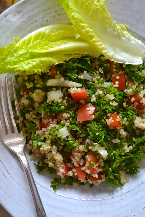 Quinoa Tabouli is sunshine on a plate… in a bowl… or cradled in a ...