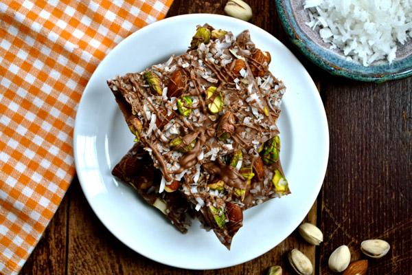 Almond, Pistachio & Coconut Chocolate Bark