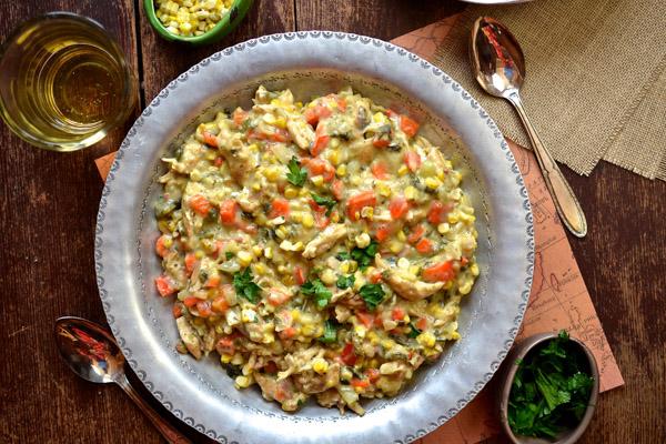Mexican Chicken Poblano Chowder