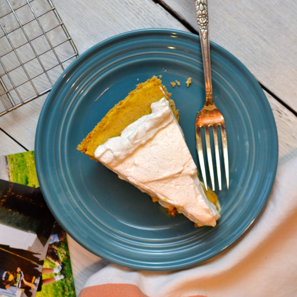 Pumpkin Ice Cream Pie With Cinnamon Whipped Cream