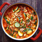 Italian Sausage Soup with Sun-Dried Tomato Tortellini