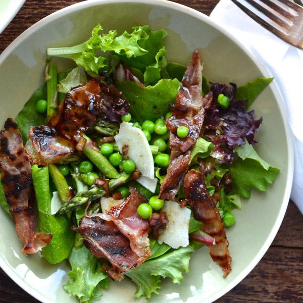 Asparagus, Petite Peas & Prosciutto Salad