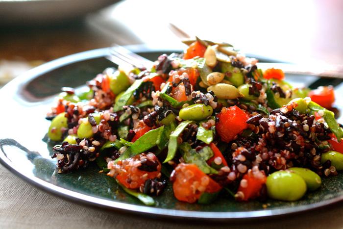 Quinoa, Edamame & Black Rice Salad