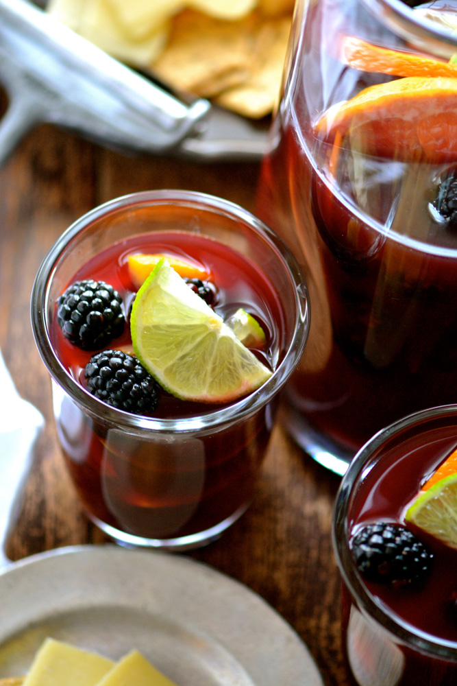 Winter Sangria with Blackberry, Pink Grapefruit & Lime ciaochowbambina.com