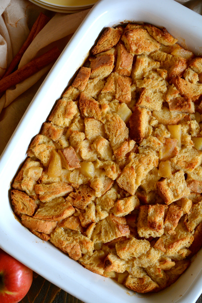 Apples & Maple Italian Bread Pudding with Cinnamon Whipped Cream ...