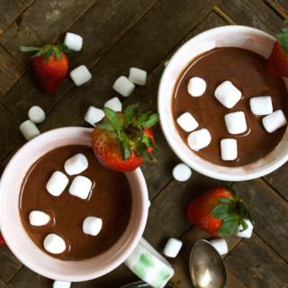 Melted Strawberry Ice Cream Hot Chocolate ciaochowbambina.com