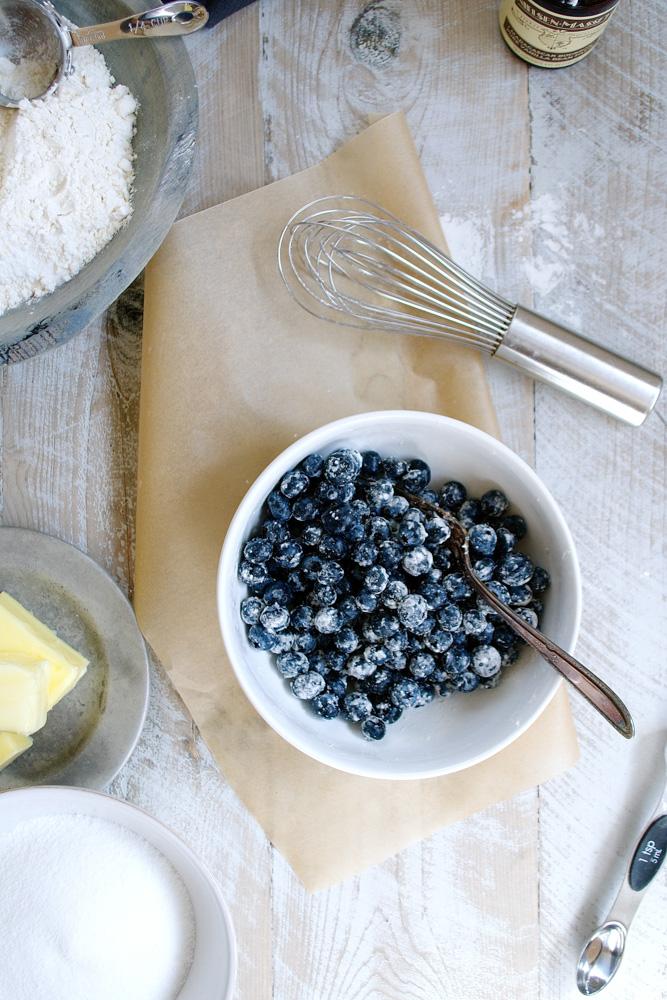 Blueberry Mascarpone Pound Cake with Marinated Berries ciaochowbambina.com