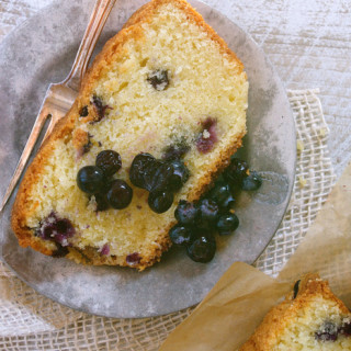 Blueberry Mascarpone Pound Cake with Marinated Berries ciaochowbambina.com