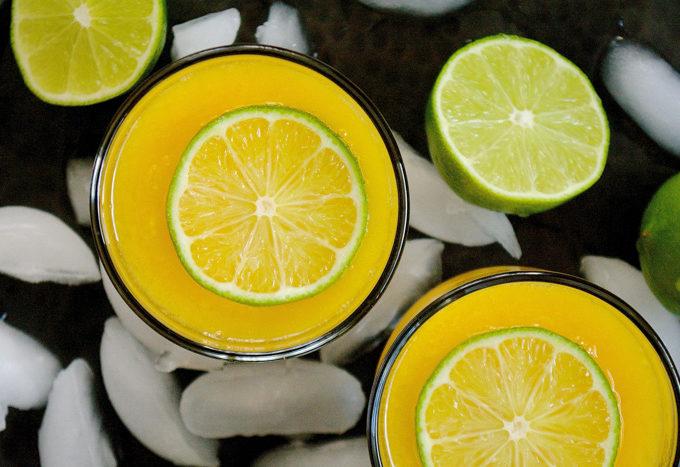 Mango & Lime White Wine Slushy ciaochowbambina.com