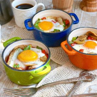 Baked Mushroom & Chicken Sausage Bowls ciaochowbambina.com