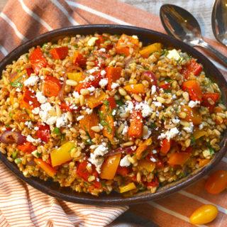 farro-salad-with-roasted-pumpkin-and-toasted-pine-nuts ciaochowbambina.com