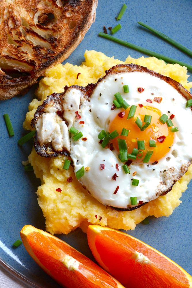 Creamy Mascarpone Polenta with Crispy Fried Eggs - Ciao ...