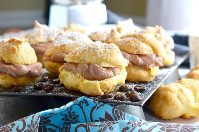 Miniature Mocha Cream Puffs ciaochowbambina.com