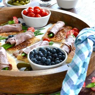 Roast Beef & Asparagus on Kimmelweck Focaccia with Horseradish Cream ciaochowbambina.com