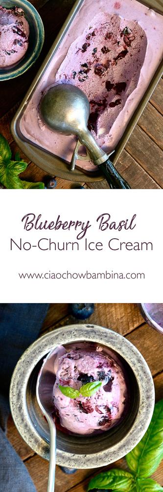 Blueberry Basil No-Churn Ice Cream ciaochowbambina.com