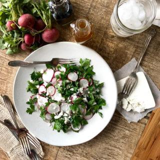Radish and Parsley Salad with Ricotta Salata ciaochowbambina.com