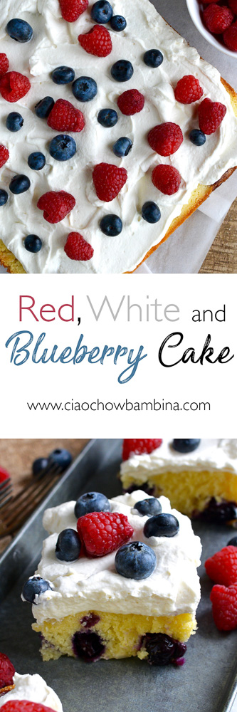 Red, White & Blueberry Cake ciaochowbambina.com