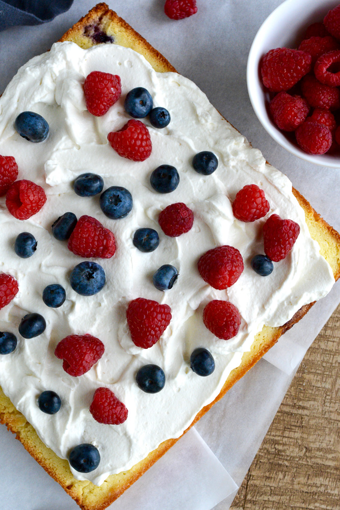 Red, White & Blueberry Cake ciaochowbambina.com