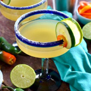 Spicy Cucumber Margarita ciaochowbambina.com