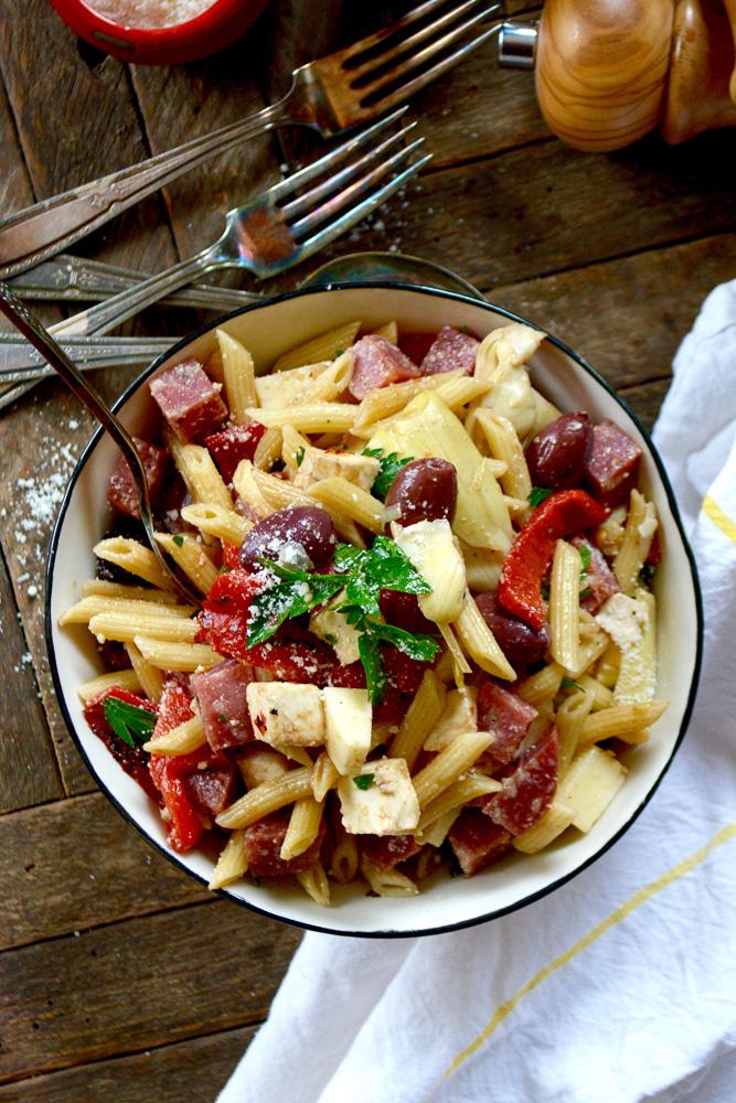 Antipasto Pasta Salad ciaochowbambina.com