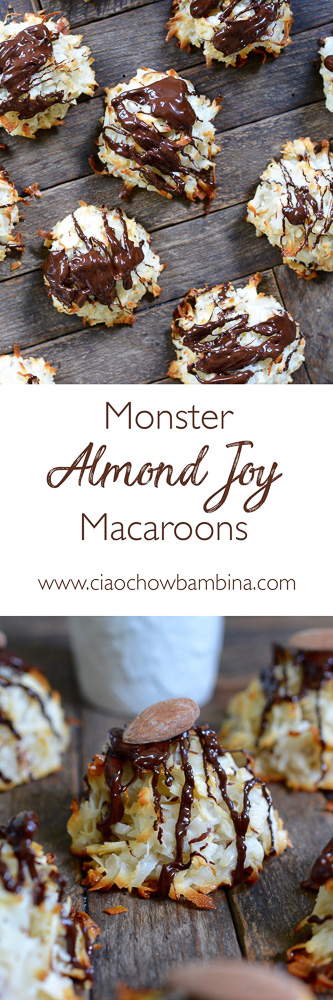 Monster Almond Joy Macaroons ciaochowbambina.com
