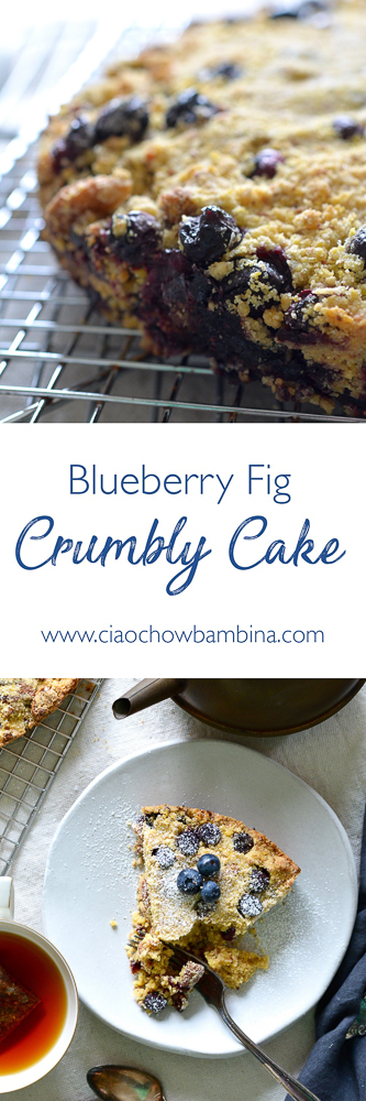 Blueberry Fig Crumbly Cake ciaochowbambina.com