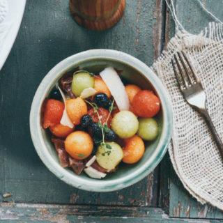 Summer Fruit Salad with Prosciutto ciaochowbambina.com