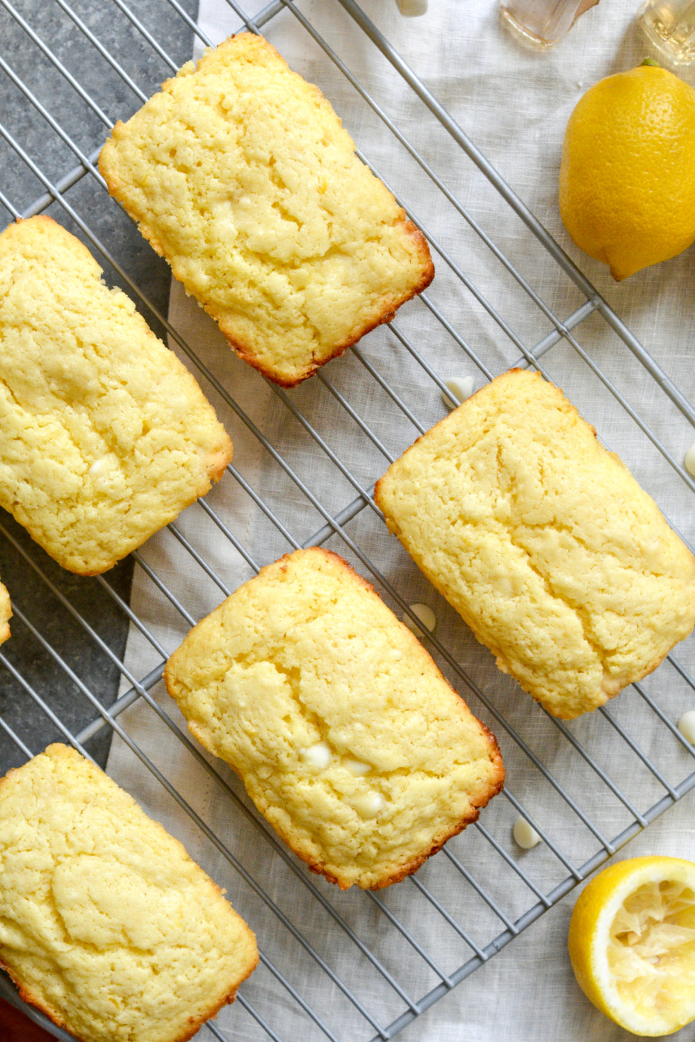 Mini Lemon Loaf Cakes with White Chocolate Chips - Ciao Chow Bambina