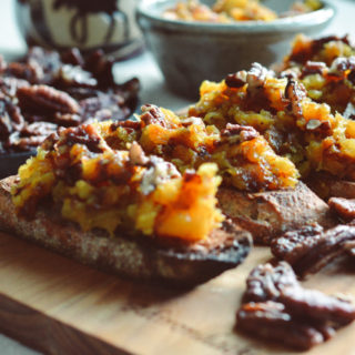 Autumn Crostini with Butternut Squash & Spiced Pecans ciaochowbambina.com