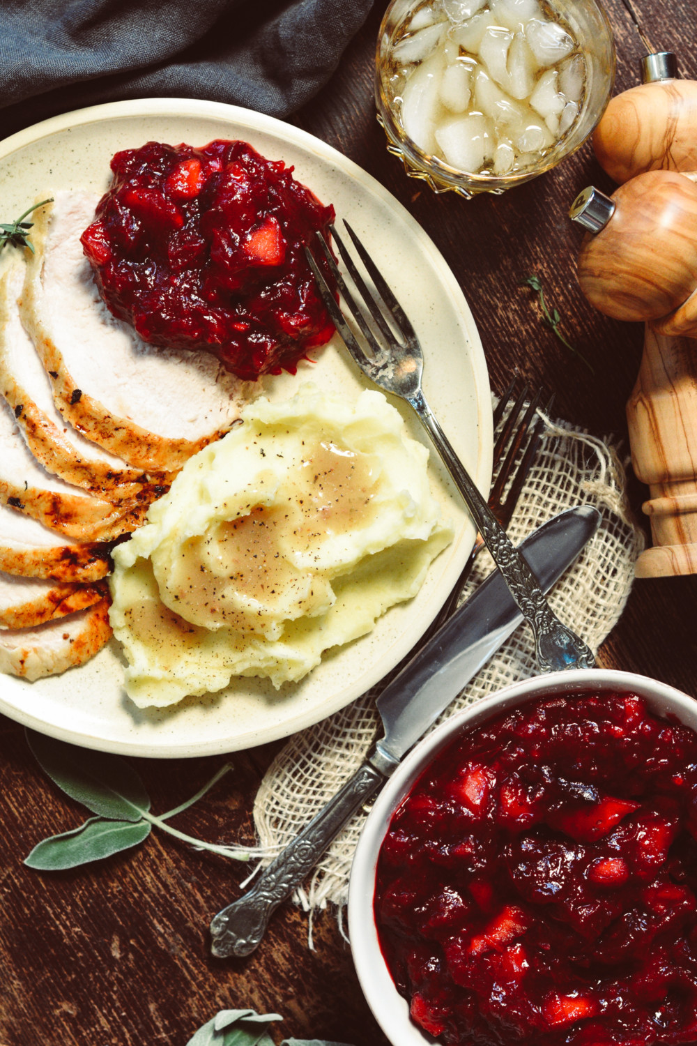 Herb Roasted Turkey Breast With Apple Cranberry Relish Ciao Chow Bambina