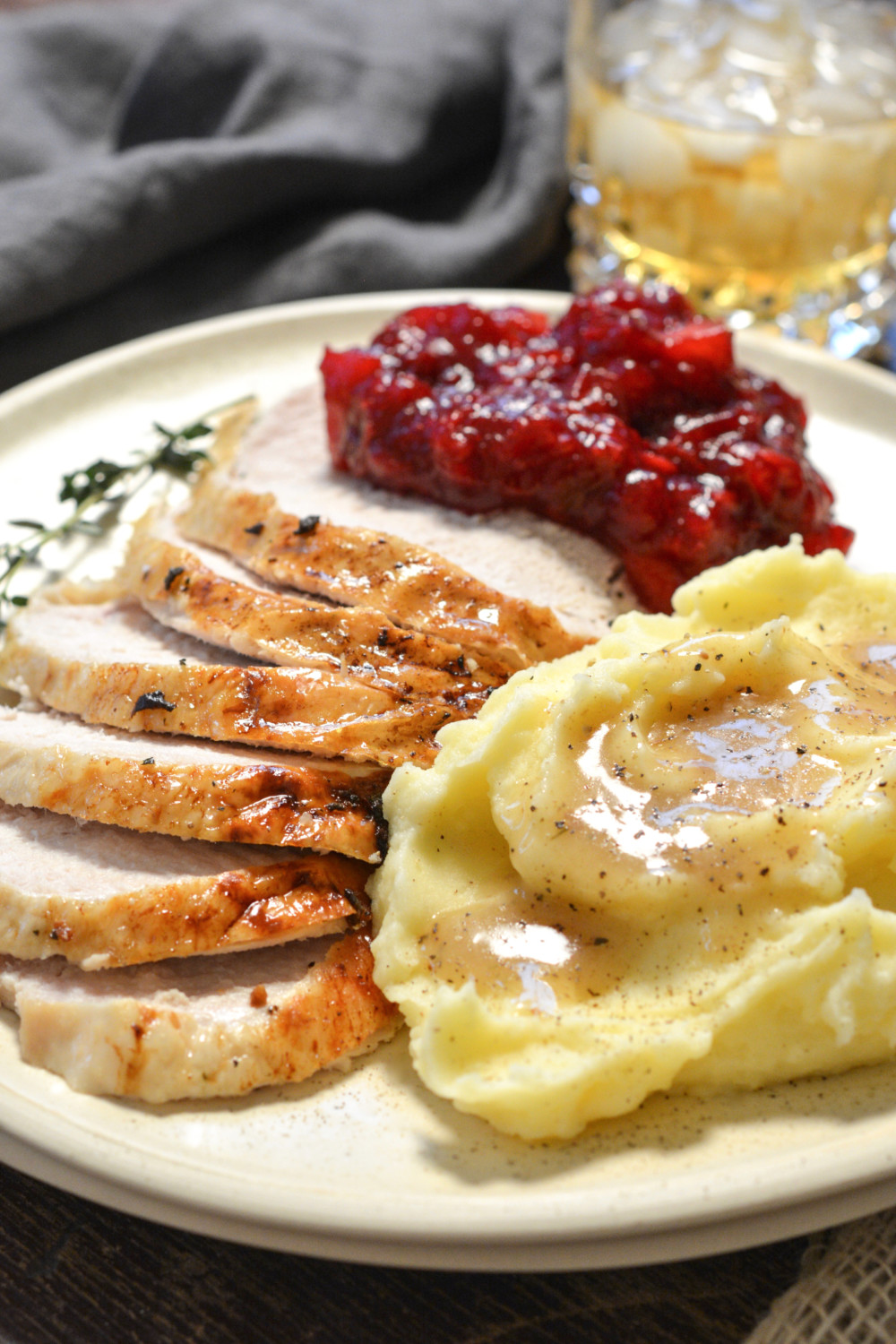 Herb Roasted Turkey Breast with Apple Cranberry Relish ciaochowbambina.com