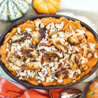 Whipped Sweet Potato with Caramelized Banana & Toasted Almonds ciaochowbambina.com