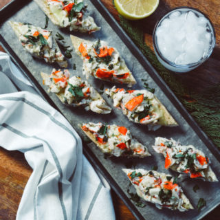 Cheesy Crab French Bread Appetizer ciaochowbambina.com