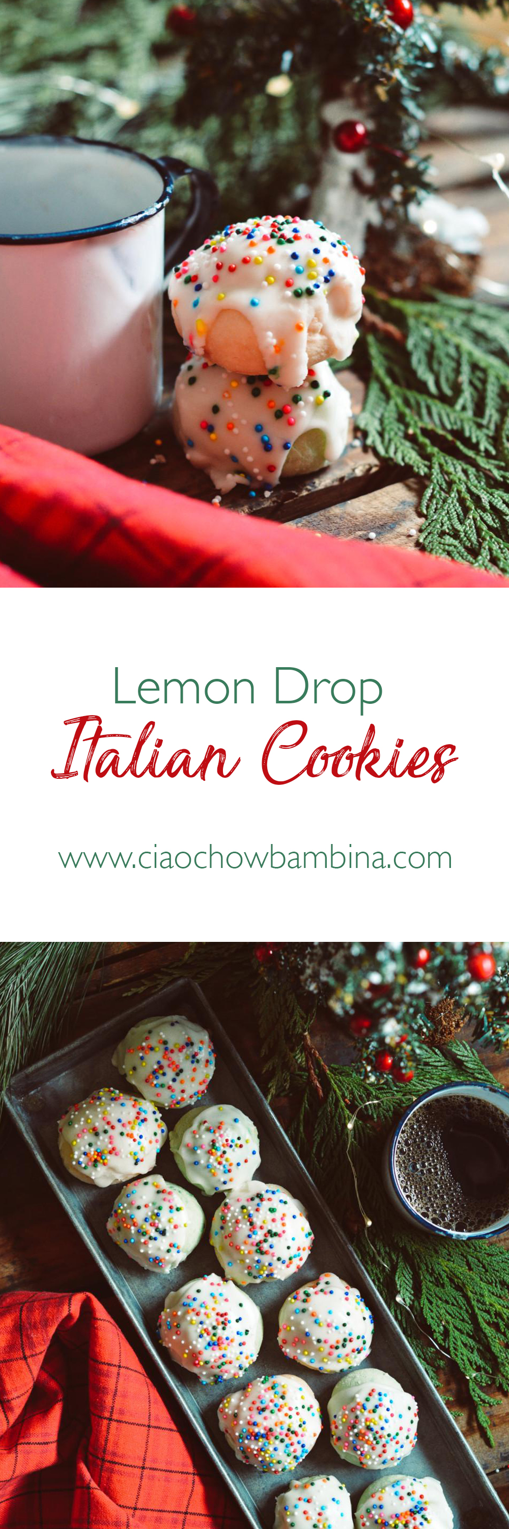 Lemon Drop Italian Cookies