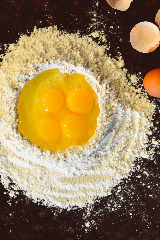 Handmade Fettuccine with Easy Marinara ciaochowbambina.com